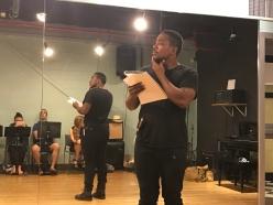 Michael Gene Jacobs (Prince Siegfried) at rehearsal.