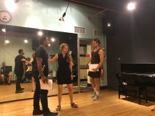 Andrea Andresakis directs Michael Gene Jacobs (Prince Siegfried) and Trevor van Uden (Franz).