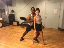 Michael Gene Jacobs (Prince Siegfried) and Anie Delgado (Odette) rehearse their pas de deux.